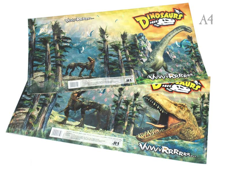 Obal na sešit MOD A4- Dinosauři