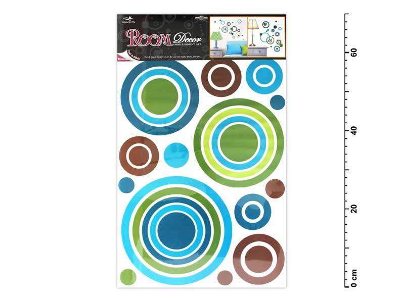 Samolepící dekorace 1058 modré kruhy 70x42cm
