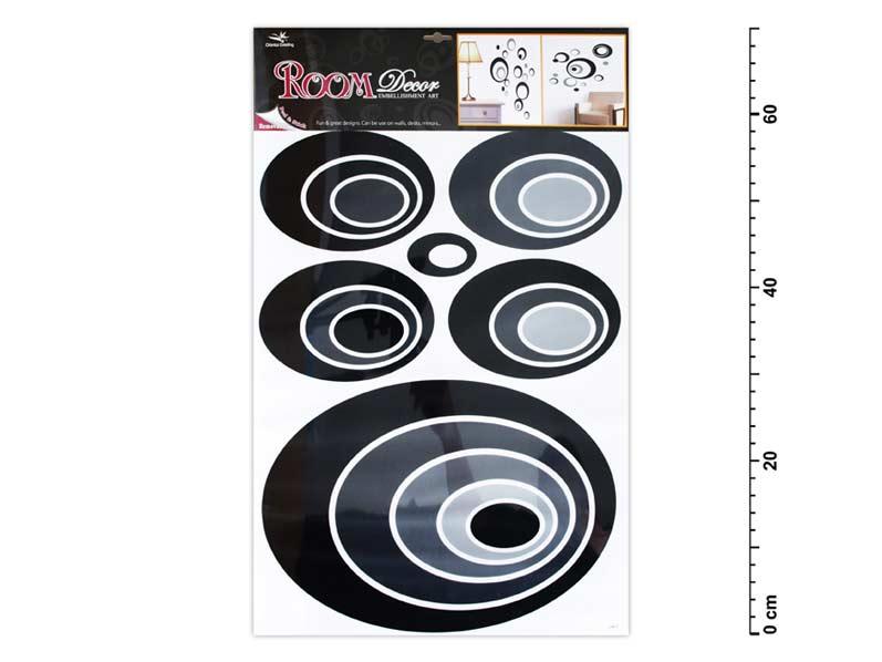 Samolepící dekorace 1059 černé elipsy 70x42cm