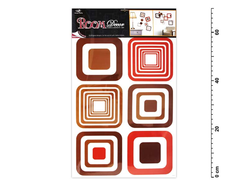 Samolepící dekorace 1063 hnědé čtverce 70x42cm