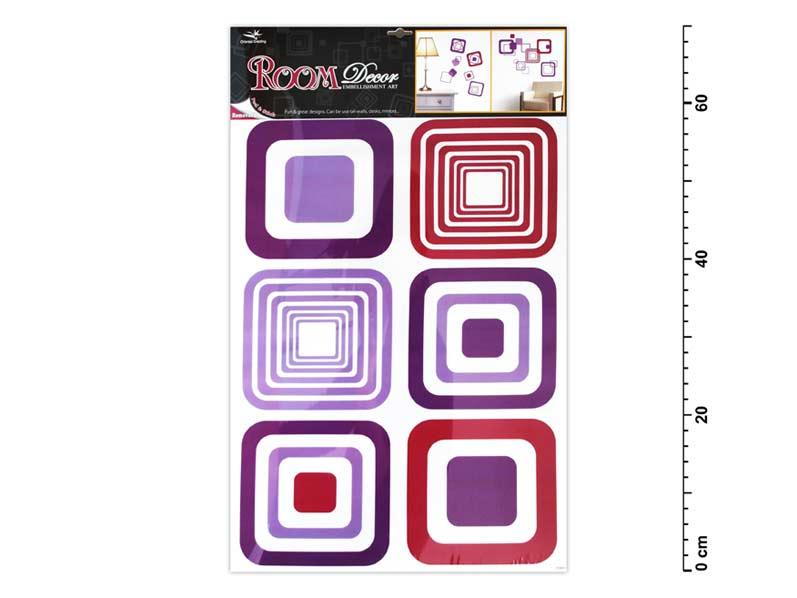 Samolepící dekorace 1064 fialové čtverce 70x42cm