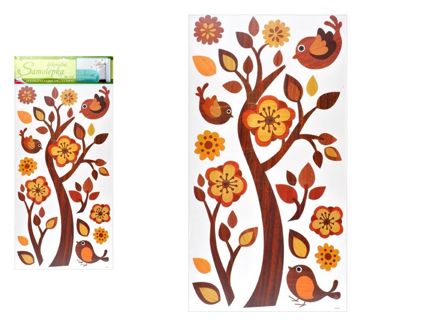 Samolepící dekorace 1347 větev s imitací dřeva, 69x32 cm