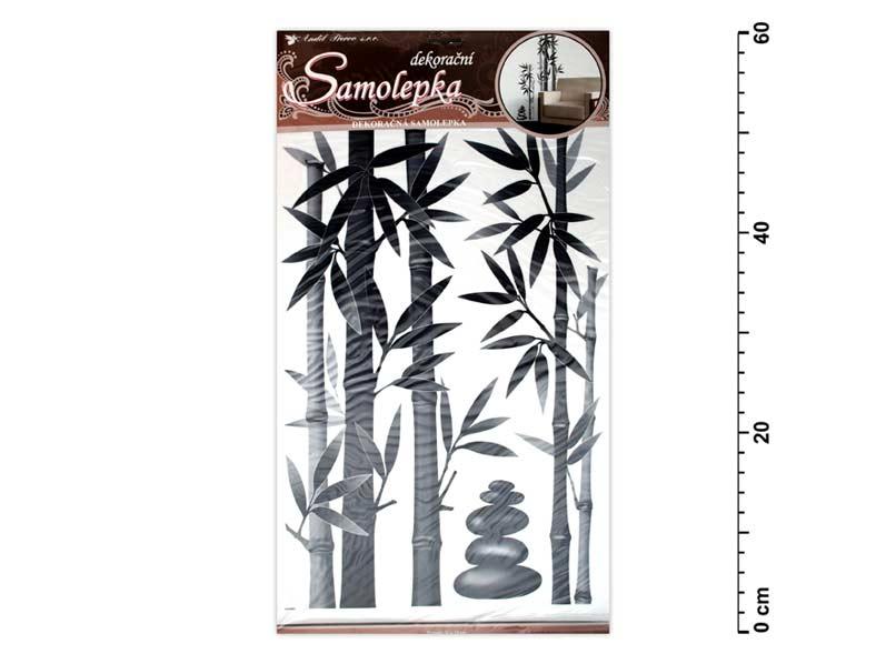 Samolepící dekorace 10015 bambus šedý 60x32cm