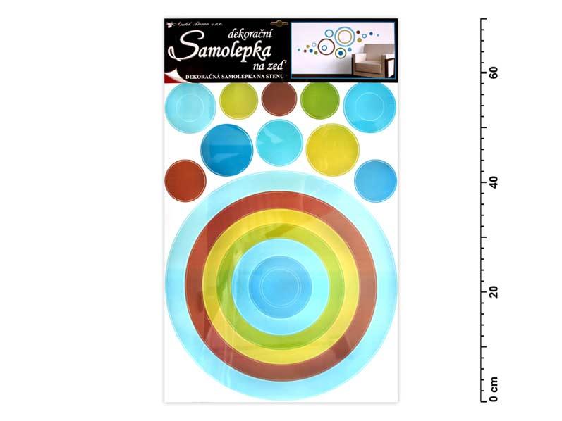 Anděl samolepící dekorace 10065 kruh modrý 70x42cm Anděl Přerov