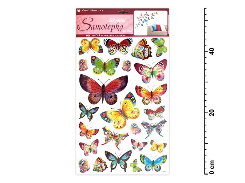 Anděl samolepící dekorace 10141 barevní motýli 53x29cm