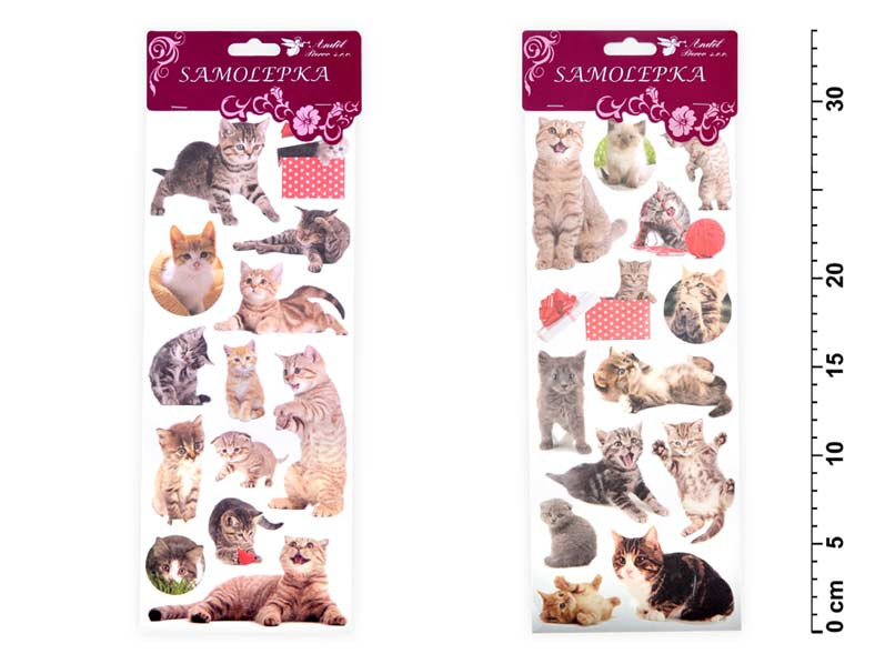 Samolepky 1250 kočky 34,5x 12,5 cm