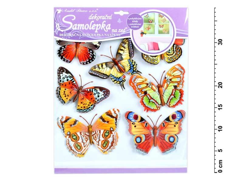Samolepící dekorace 10161 motýli skuteční 30,5x30,5 cm