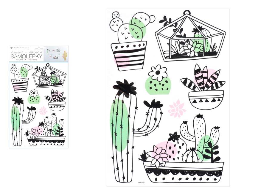 Samolepící dekorace 10452 kaktusy 24 x 42 cm