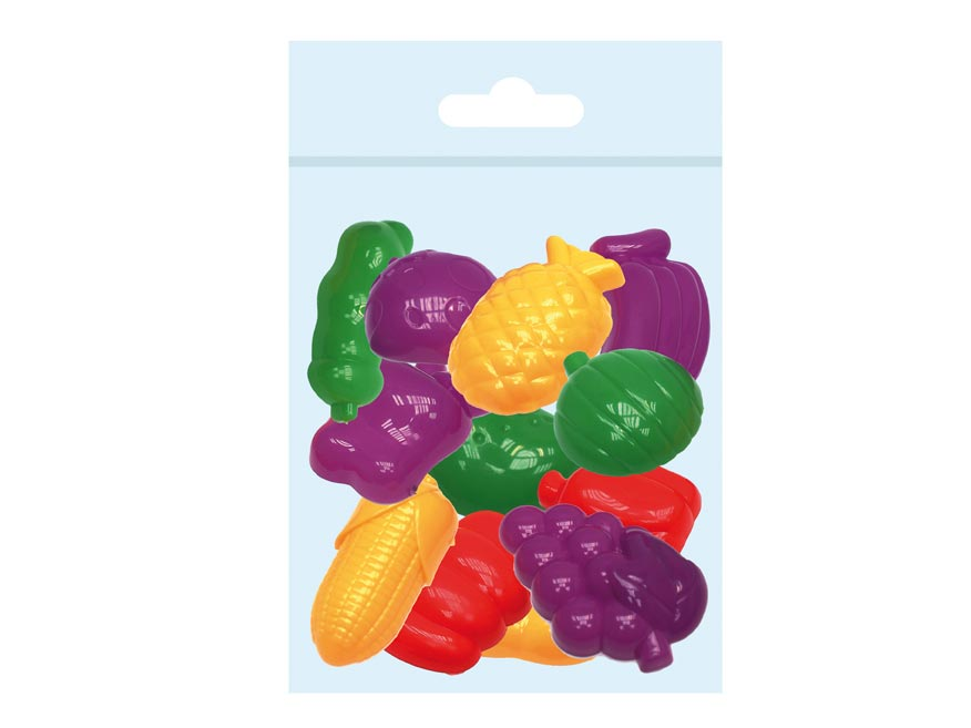 MFP tvořítka 3D 12ks sada na modelování,ovoce-zelenina