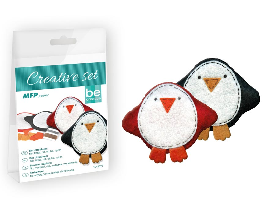 Kreativní set - tučňák 2ks, PVC krabička