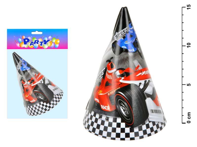 Wiky klobouček karnevalový 818449 auto 6ks