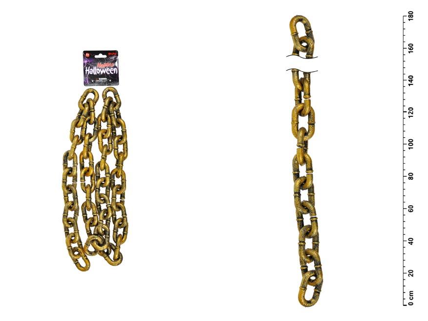 Čertovský řetěz 880318 zlatý, plast