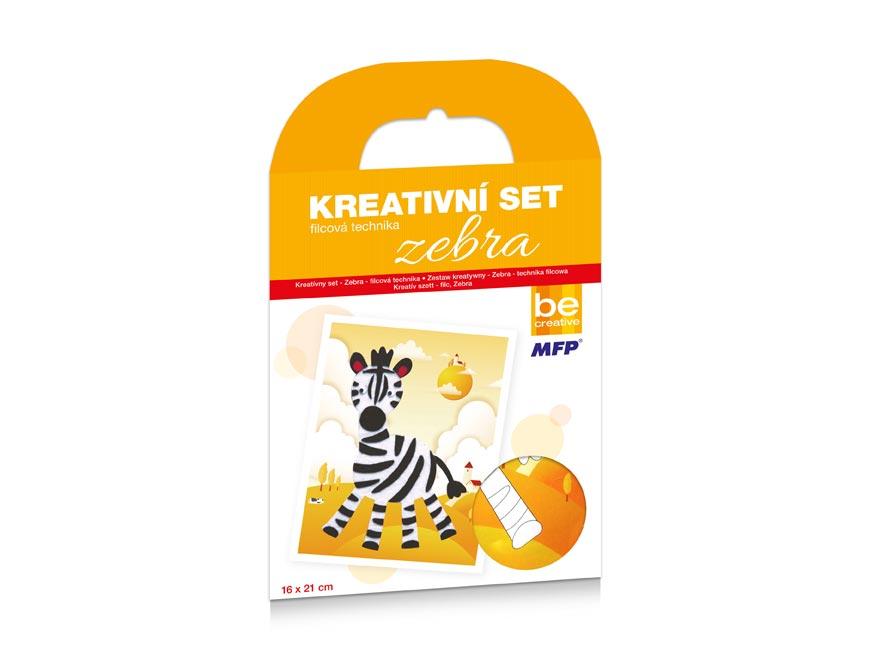 Kreativní set - Zebra - filcová technika 16x21cm