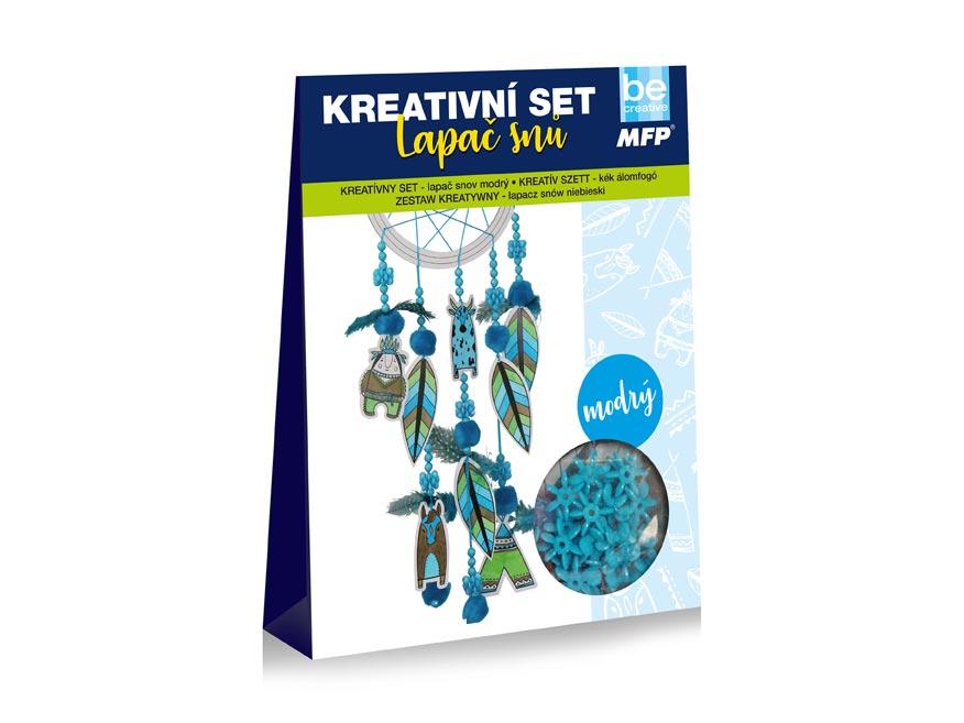 Kreativní set - lapač snů modrý