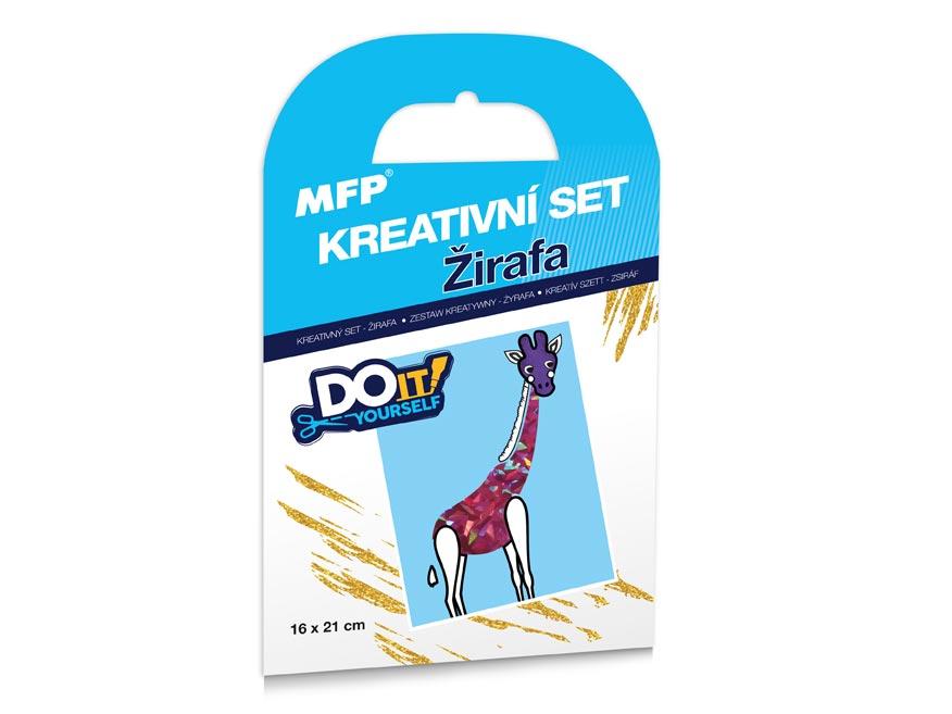 Kreativní set - Žirafa - fóliová technika