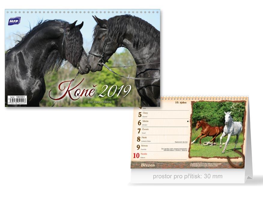 MFP kalendář 2019 stolní Koně