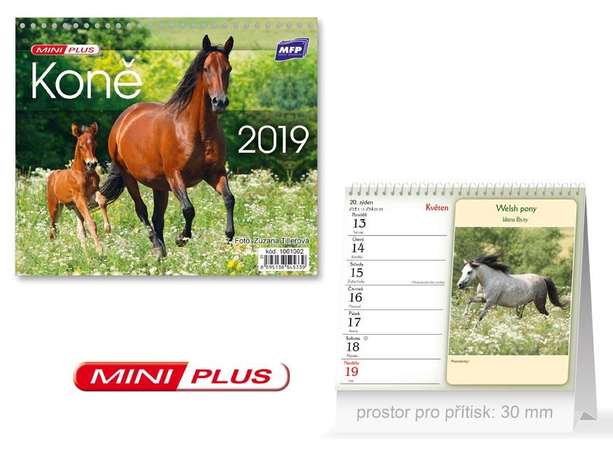MFP kalendář 2019 stolní mini Koně