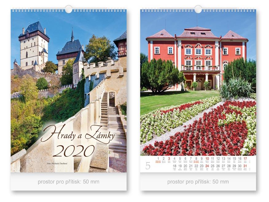 Kalendář 2020 nástěnný Hrady a zámky