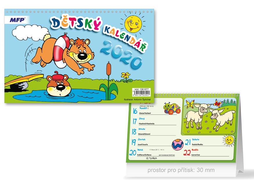 MFP 1061077 kalendář 2020 stolní Dětský