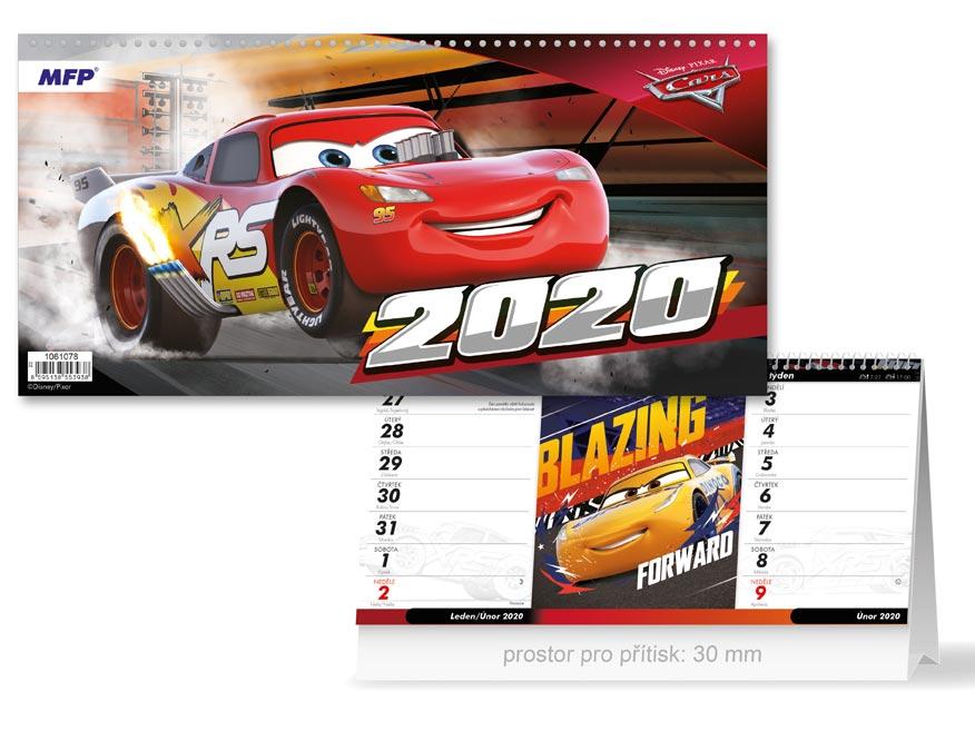 Kalendář 2020 stolní DISNEY Cars (čtrnáctidenní)