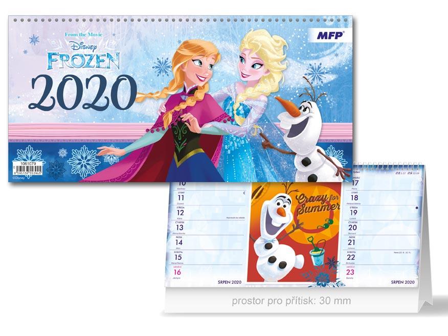 Kalendář 2020 stolní DISNEY Frozen (čtrnáctidenní)