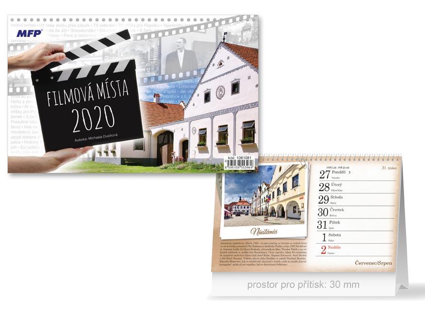 MFP 1061081 kalendář 2020 stolní Filmová místa