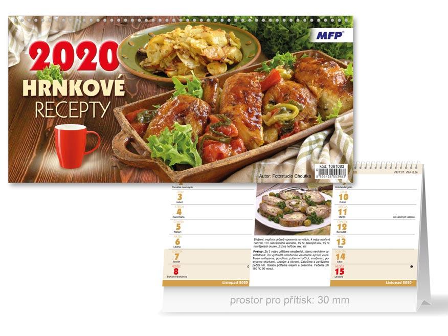 MFP 1061083 kalendář 2020 stolní Hrnkové recepty (čtrnáctidenní)