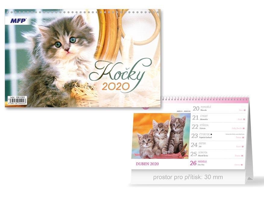 MFP 1061085 kalendář 2020 stolní Kočky