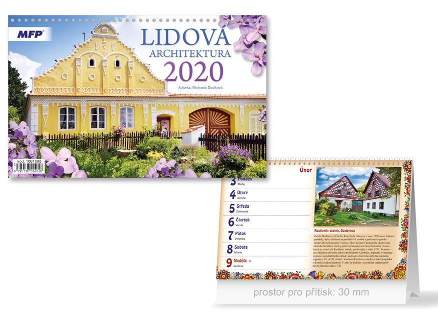 MFP 1061090 kalendář 2020 stolní Lidová architektura