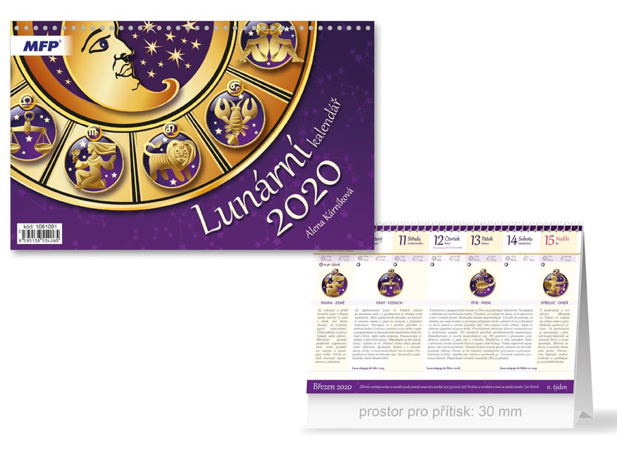MFP 1061091 kalendář 2020 stolní Lunární