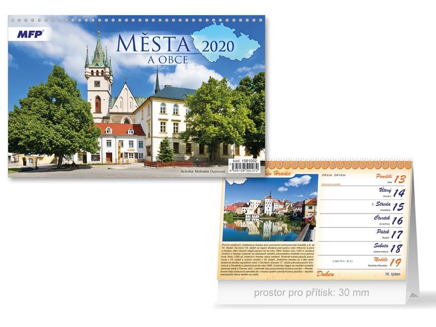 MFP 1061092 kalendář 2020 stolní Města a obce ČR