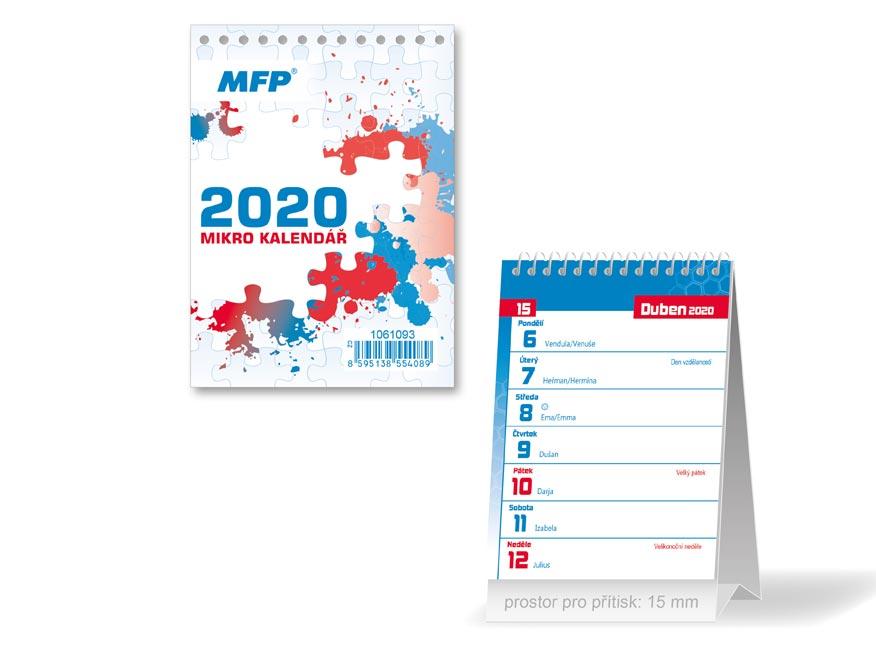 MFP 1061093 kalendář 2020 stolní Mikro