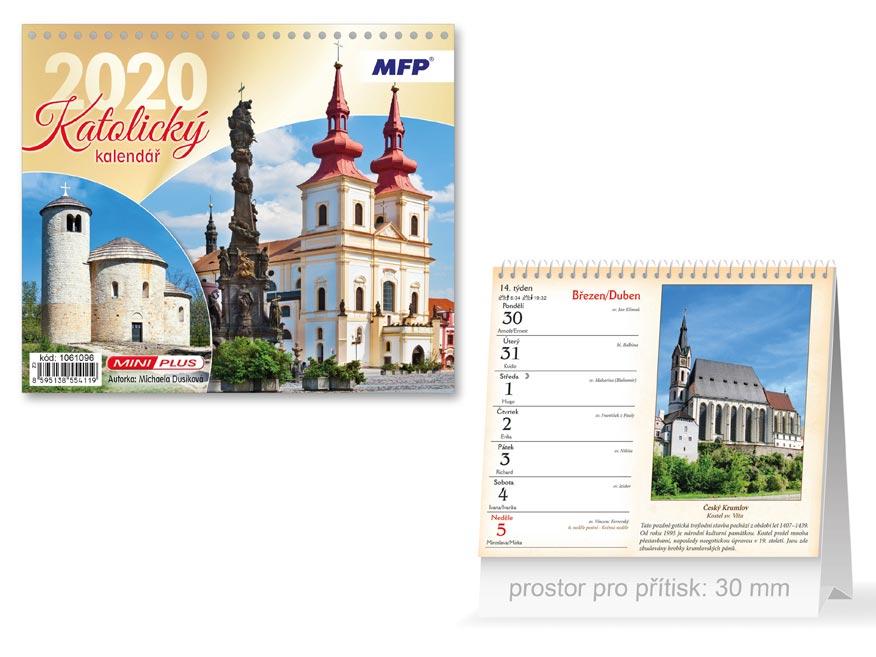 MFP 1061096 kalendář 2020 stolní mini Katolický