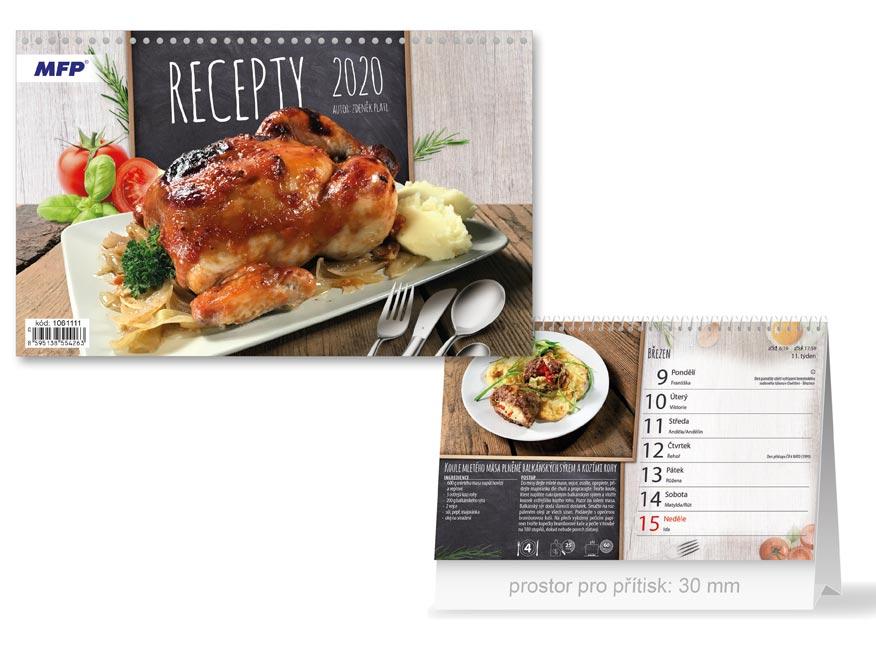 MFP 1061111 kalendář 2020 stolní Recepty