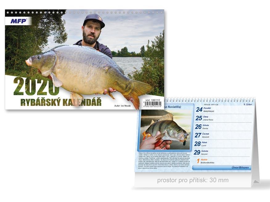 MFP 1061112 kalendář 2020 stolní Rybářský