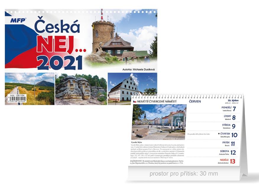 MFP 1061164 kalendář 2021 stolní Česká NEJ…