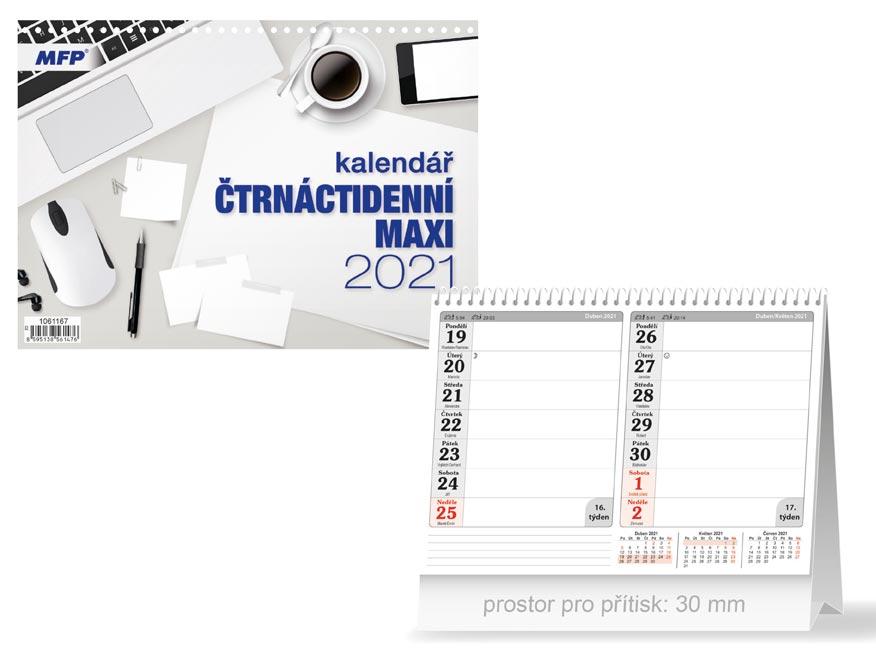 MFP 1061167 kalendář 2021 stolní Čtrnáctidenní MAXI