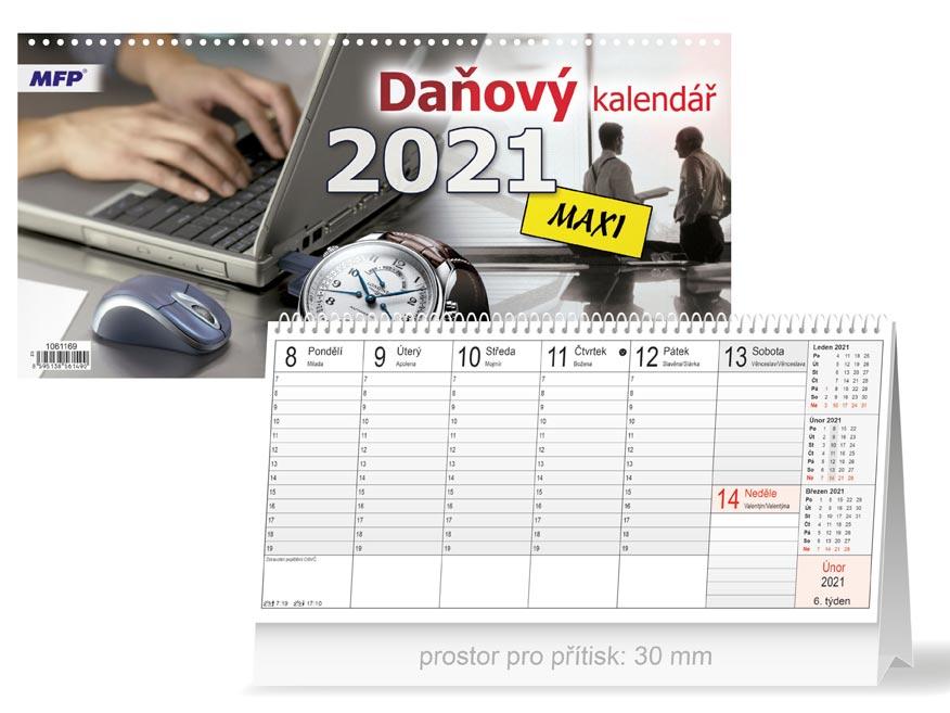 MFP 1061169 kalendář 2021 stolní Daňový MAXI
