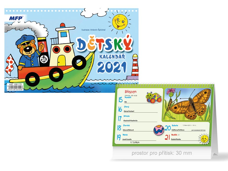 MFP 1061170 kalendář 2021 stolní Dětský
