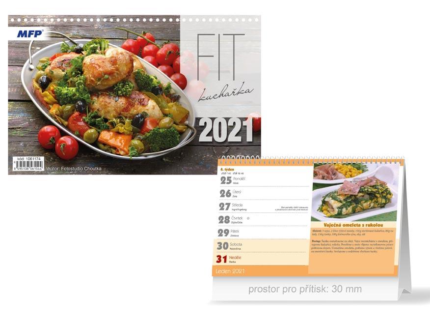 MFP 1061174 kalendář 2021 stolní FIT kuchařka