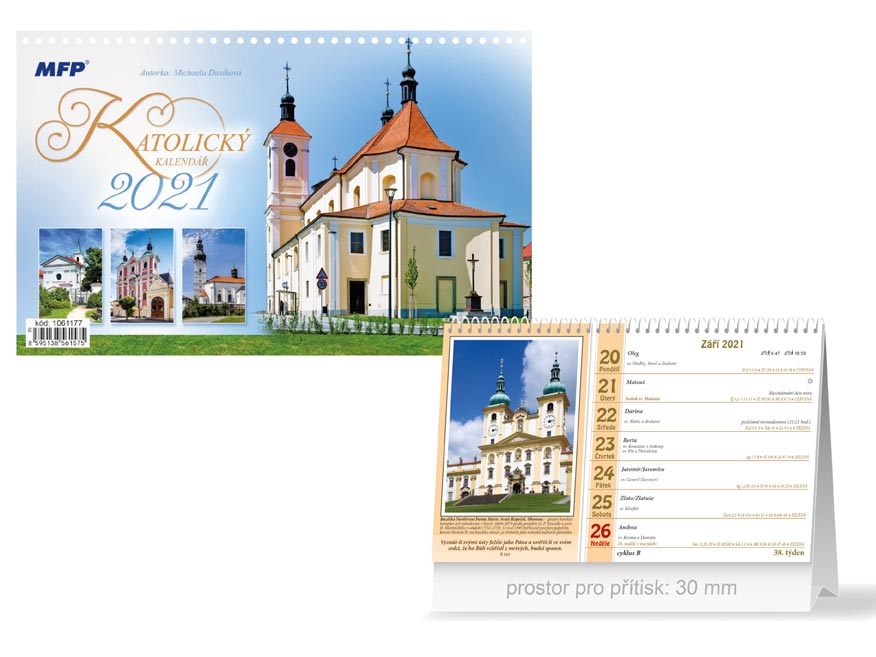 MFP 1061177 kalendář 2021 stolní Katolický