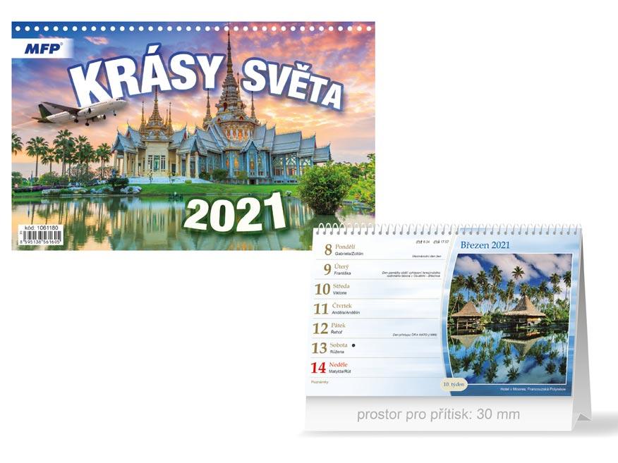 MFP 1061180 kalendář 2021 stolní Krásy světa