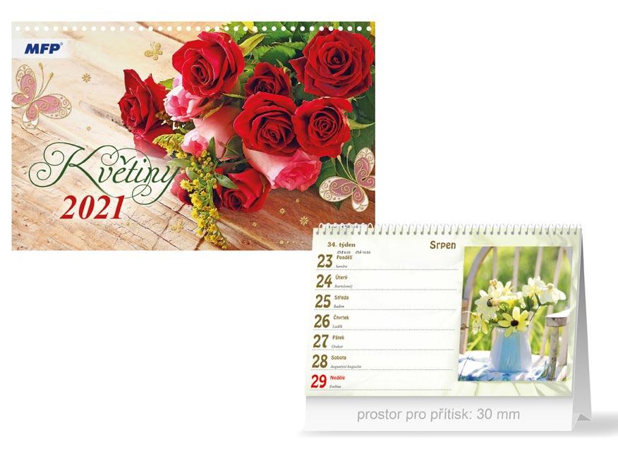 MFP 1061181 kalendář 2021 stolní Květiny