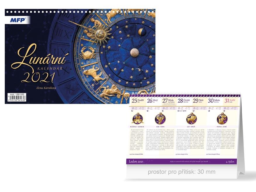 MFP 1061183 kalendář 2021 stolní Lunární