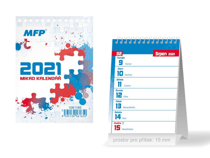 MFP 1061185 kalendář 2021 stolní Mikro