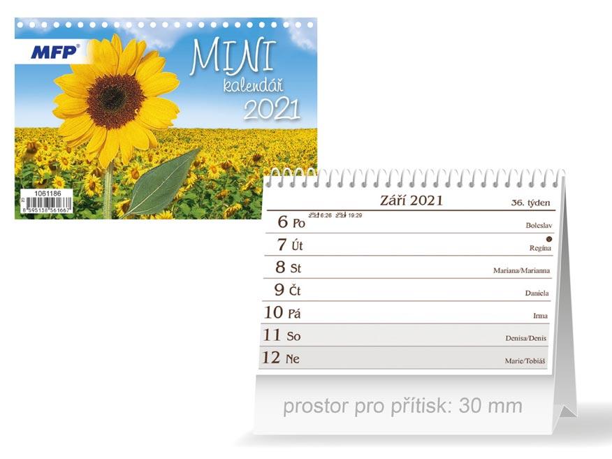 MFP 1061186 kalendář 2021 stolní Mini