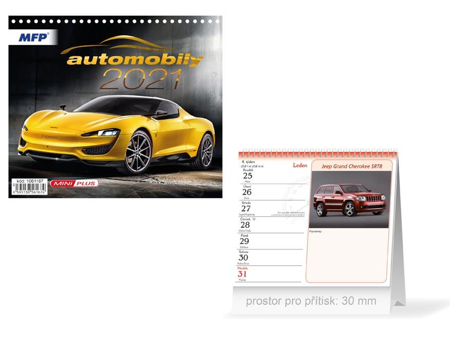 MFP 1061187 kalendář 2021 stolní mini Automobily