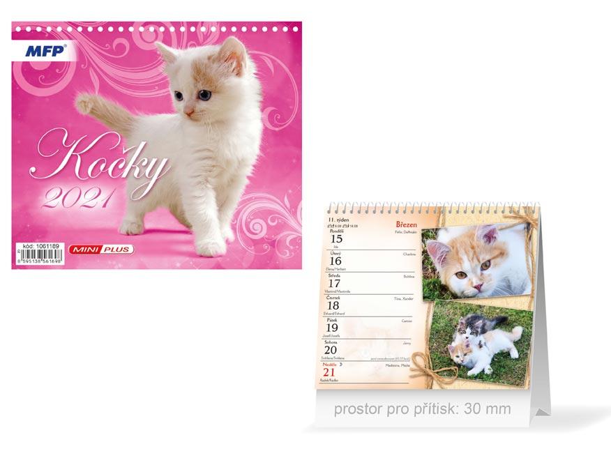 MFP 1061189 kalendář 2021 stolní mini Kočky