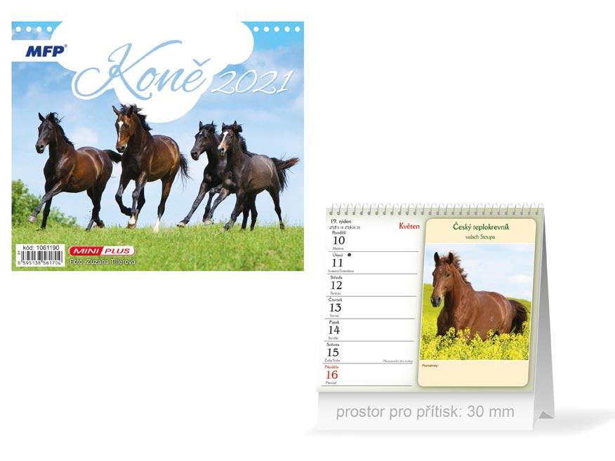 MFP 1061190 kalendář 2021 stolní mini Koně