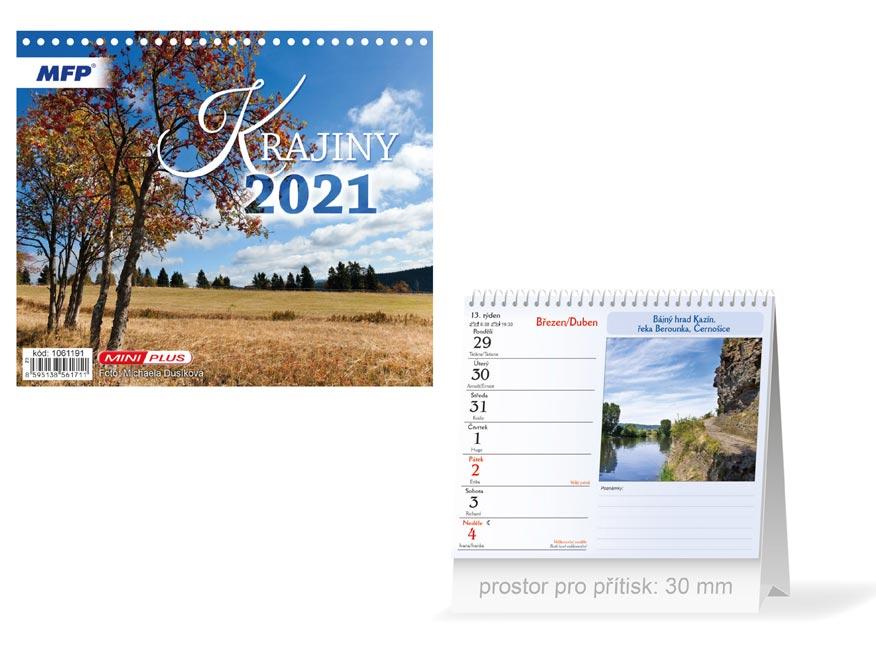 MFP 1061191 kalendář 2021 stolní mini Krajiny